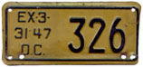 1946 Motorcycle plate no. 326