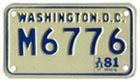 c.1978 base motorcycle plate no. M6776 validated for 1980 (exp. 3-31-81)