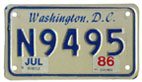 1984 base motorcycle plate no. N9495 validated for 1985 (exp. July 1986)