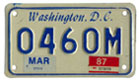 1984 base motorcycle plate no. 0406M validated for 1986 (exp. March 1987)