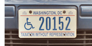 Current style disabled motorist plate