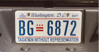 Current style passenger car plate