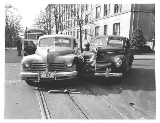 Automobile accident at 18th and F Sts., NW, c.1945