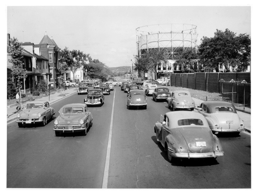 M St., SE, looking towards 11th St., c.1949