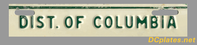 Portion of a 1953 Washington, D.C. license plate; link to site home page.