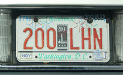 City Bicentrnnial optional plate no. 200-LHN