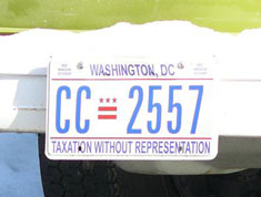 Current style passenger plate no. CC-2557