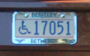 D.C. HP plate number 17051