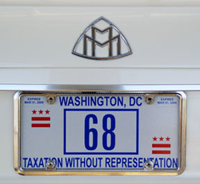 D.C. plate number 68