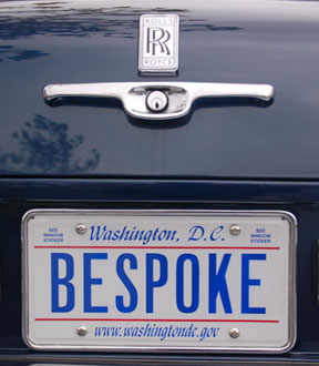 D.C. personalized plate BESPOKE