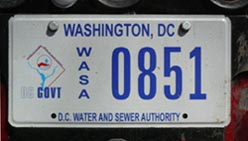 Water and Sewer Authority plate no. 851