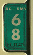 1967 (exp. 3-31-68) sticker, white on green