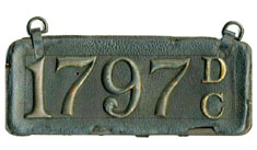 1906 homemade leather plate no. 1797
