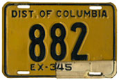 1942 Passenger plate no. 882 validated for 1944