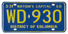 1959 plate no. WD-930